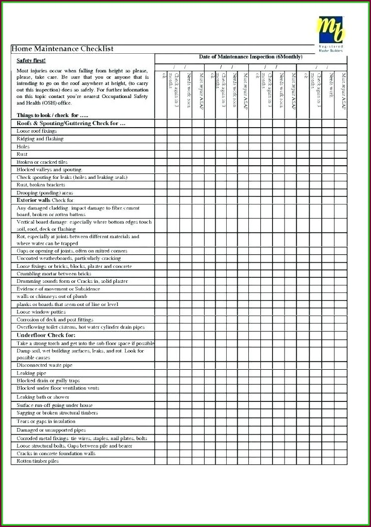 Facility Maintenance Plan Template