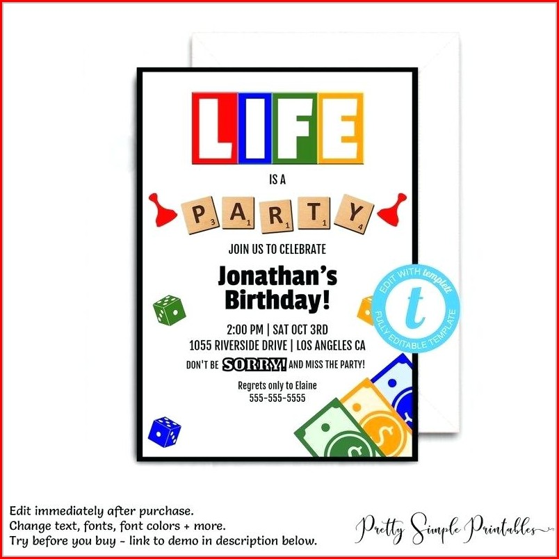 Family Game Night Invitation Template