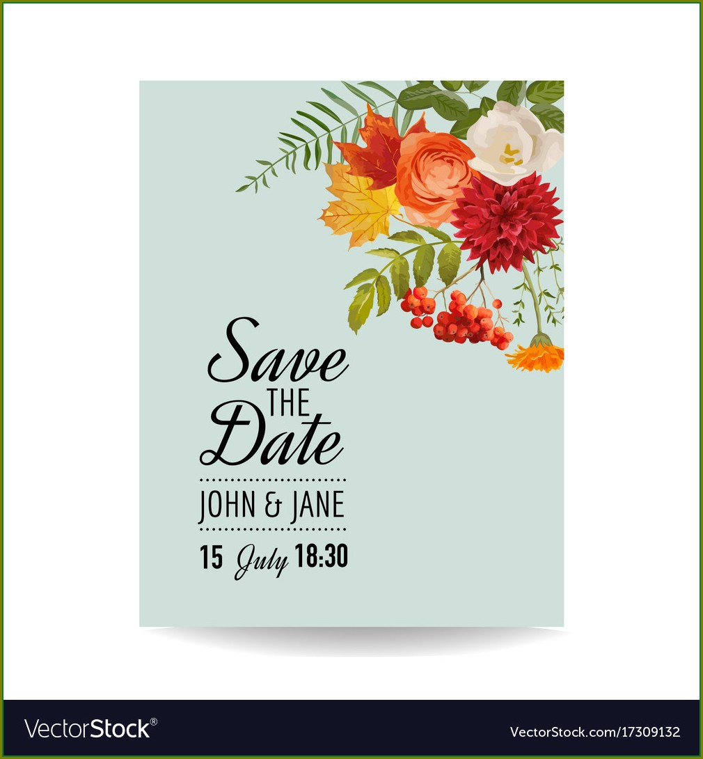 Floral Invitation Card Template Free