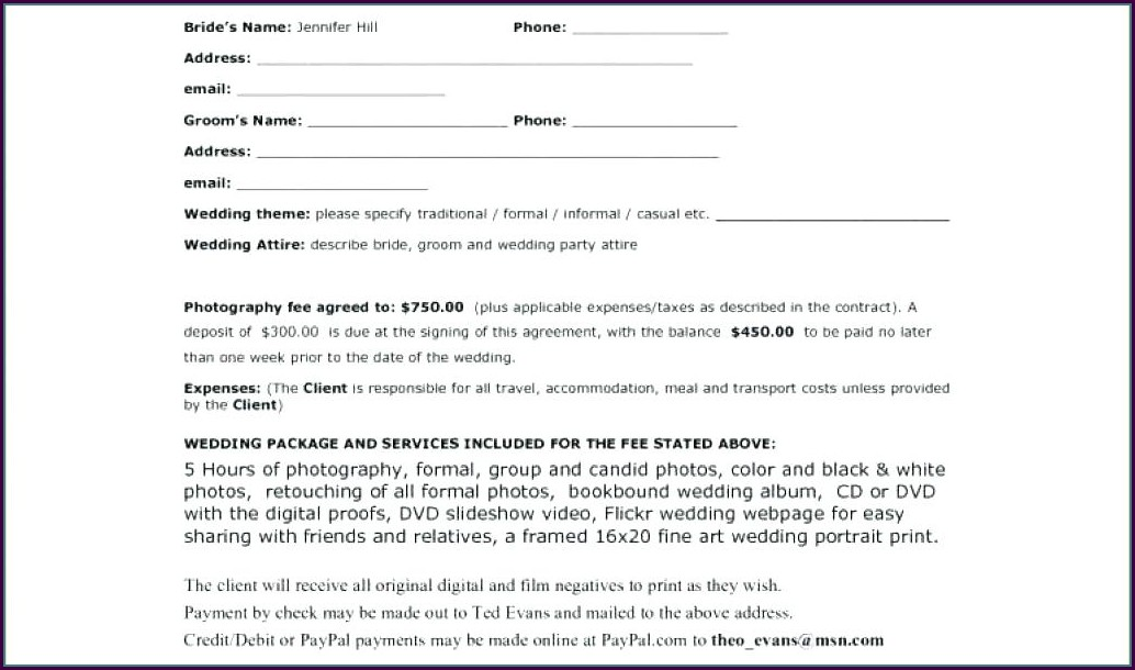Florist Contract Template Download