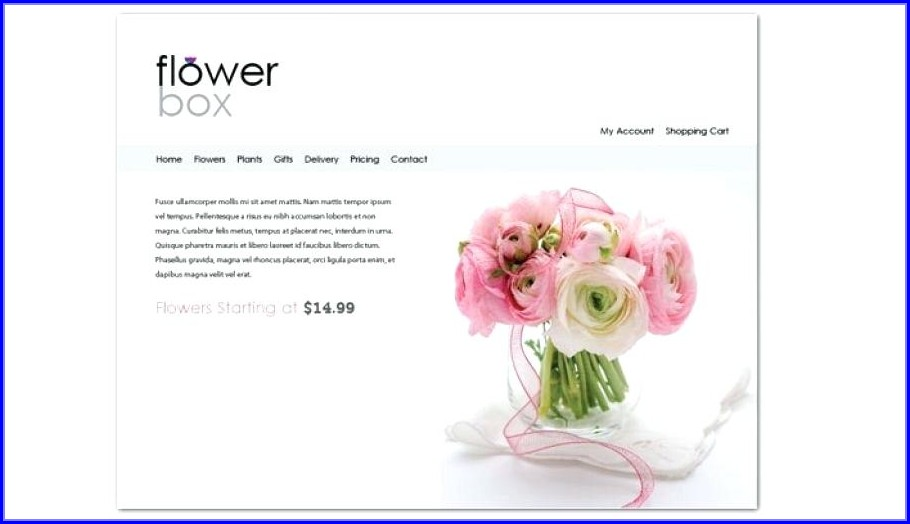 Florist Website Templates Free