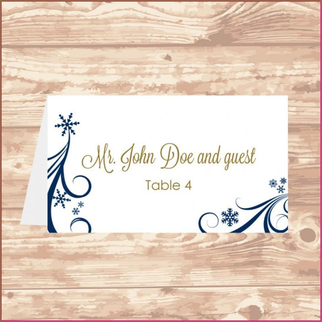 Foldable Downloadable Place Card Template Word