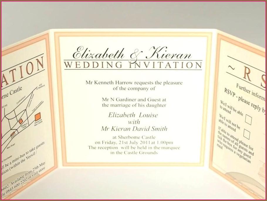 Foldable Invitation Template Word