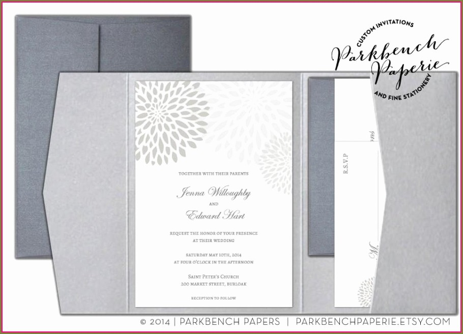 Foldable Wedding Invitation Templates