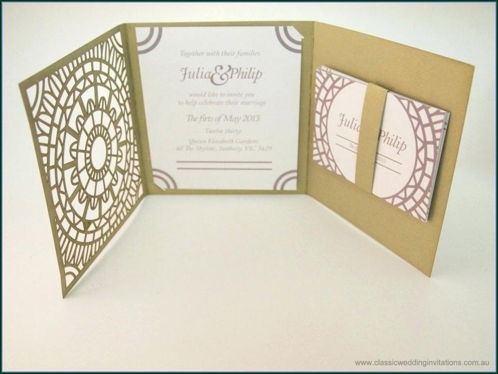 Folded Invitation Template Photoshop