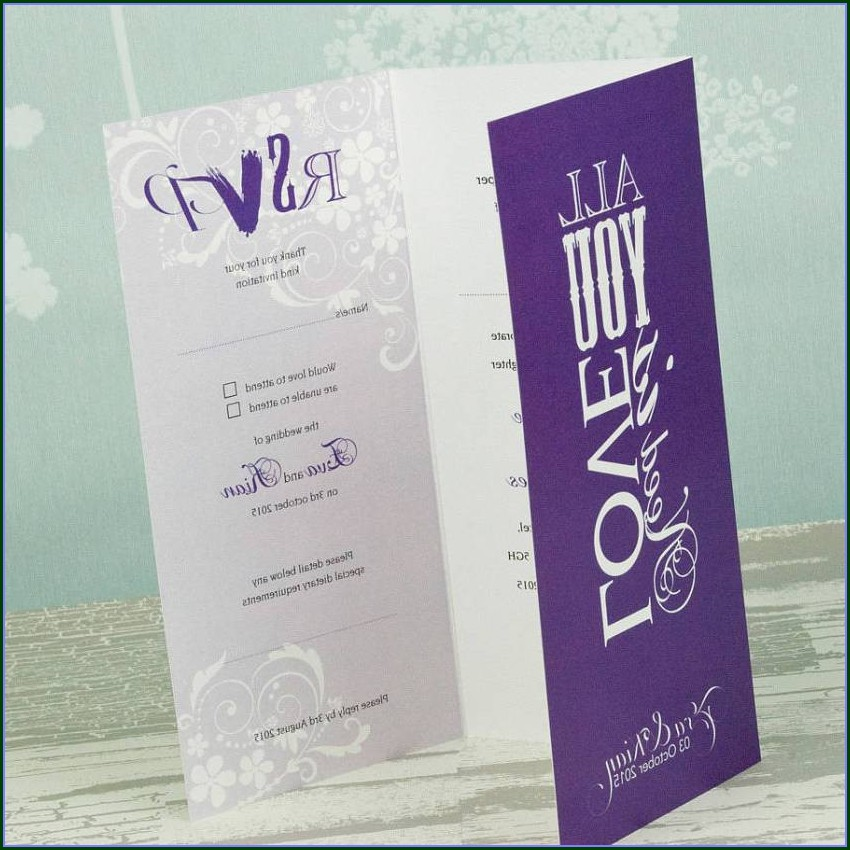 Folded Invitation Templates
