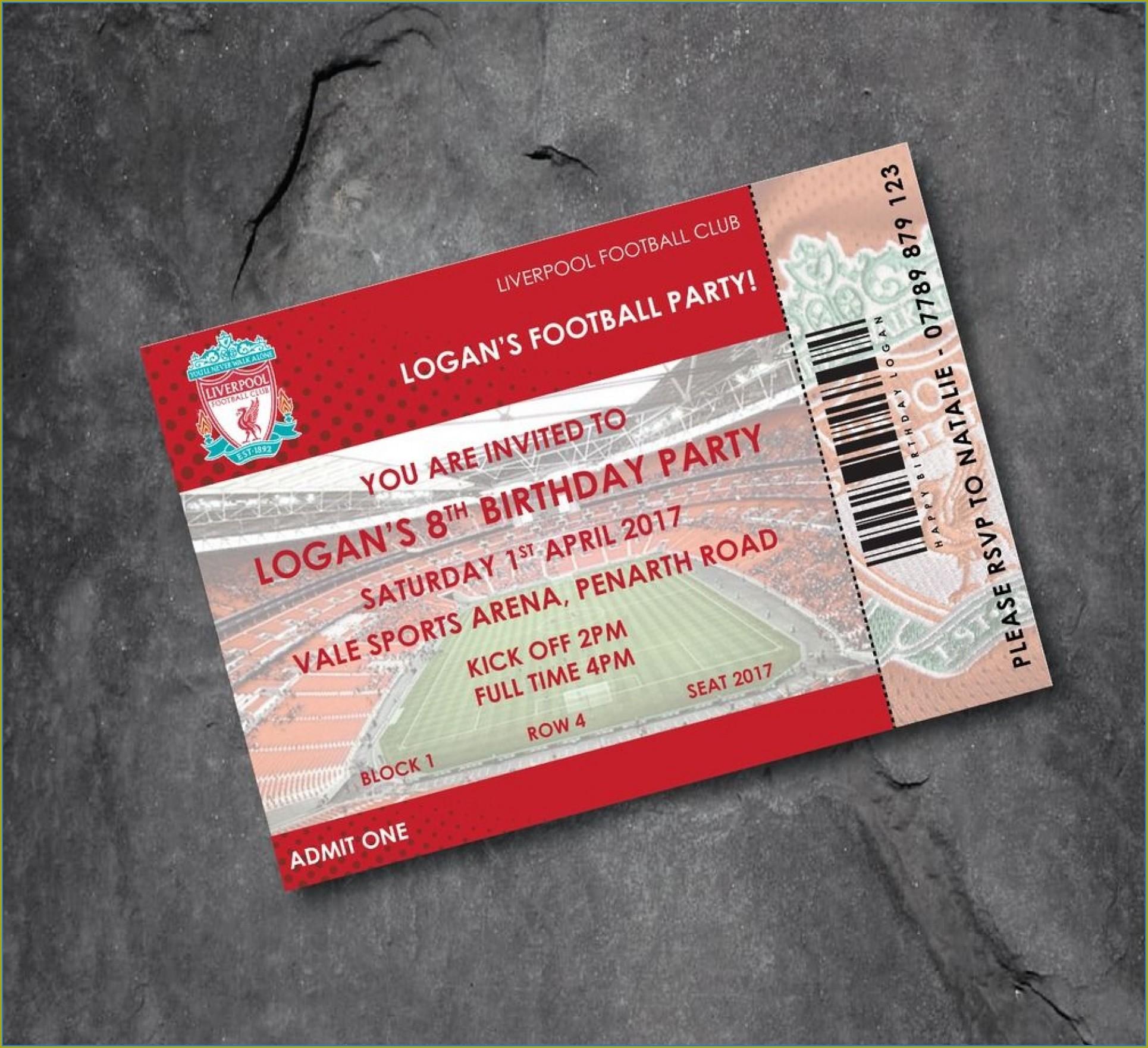 Football Ticket Invitation Template