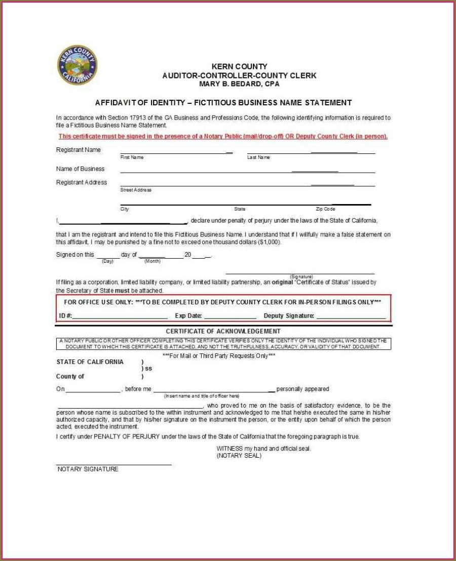 Free Affidavit Template Word