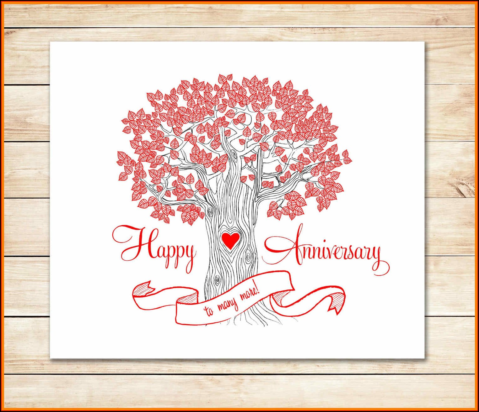 Free Anniversary Card Templates For Word