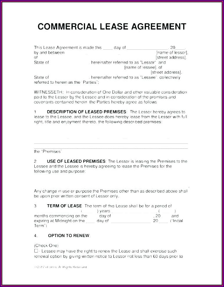 Free Business Lease Agreement Template Uk