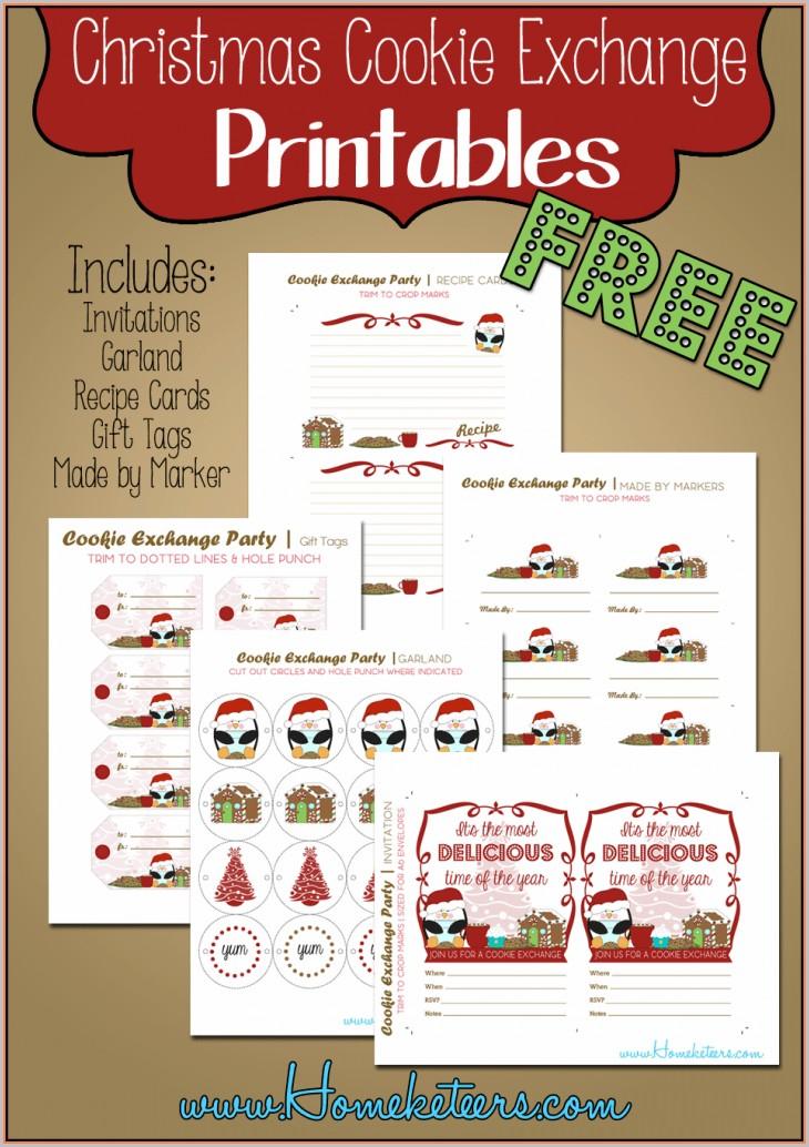 Free Christmas Cookie Exchange Invitations Templates