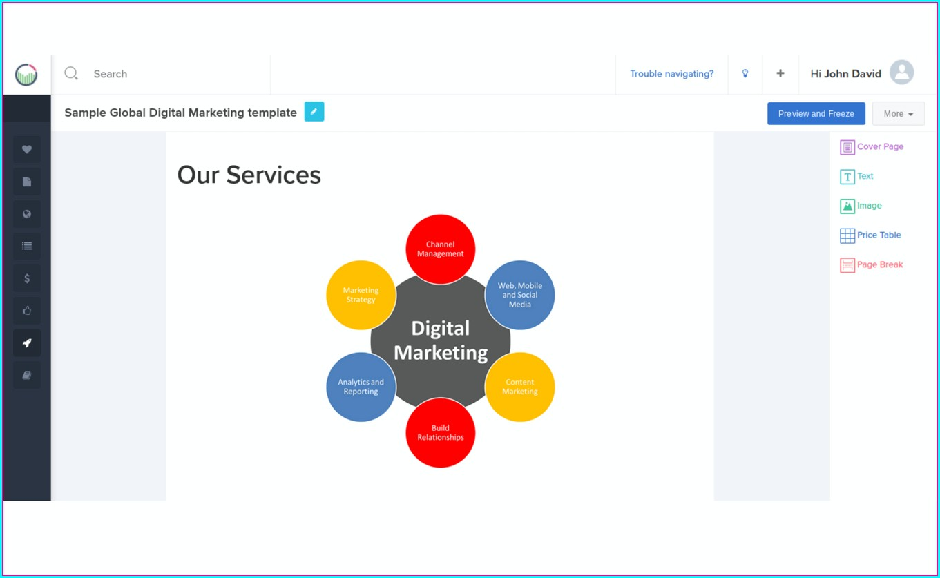 Free Digital Marketing Proposal Template