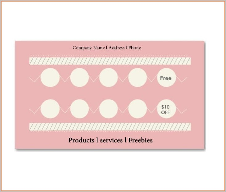 Free Editable Loyalty Card Template Word