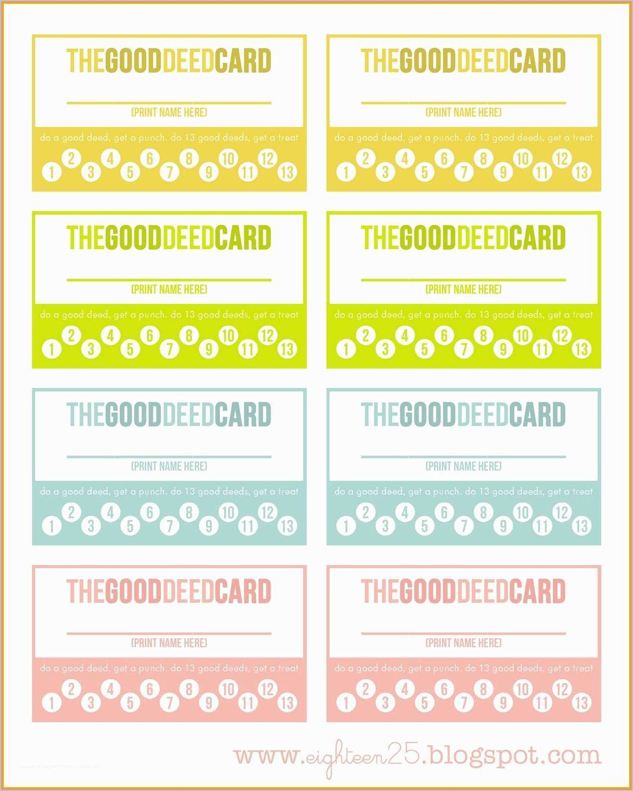 Free Editable Loyalty Card Template