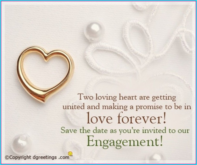 Free Engagement Invitation Templates Online With Photo