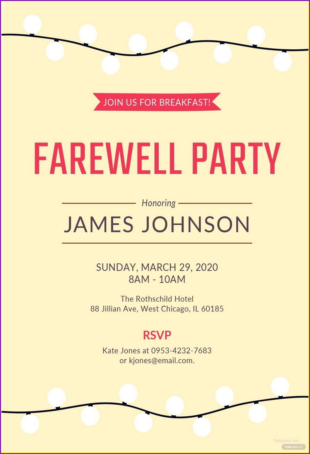 Free Farewell Party Invitation Templates For Word