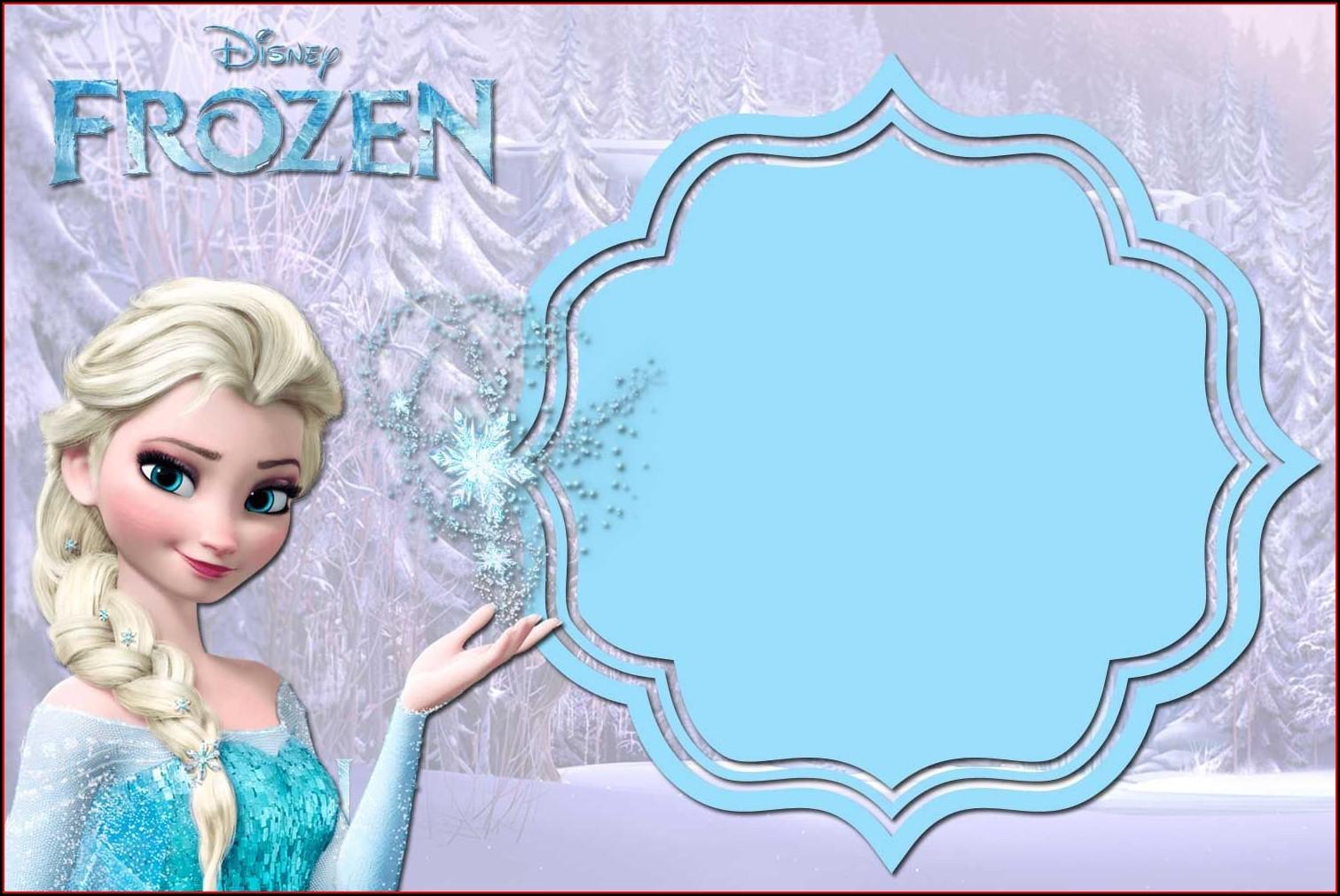 Free Frozen Birthday Invitation Card Template
