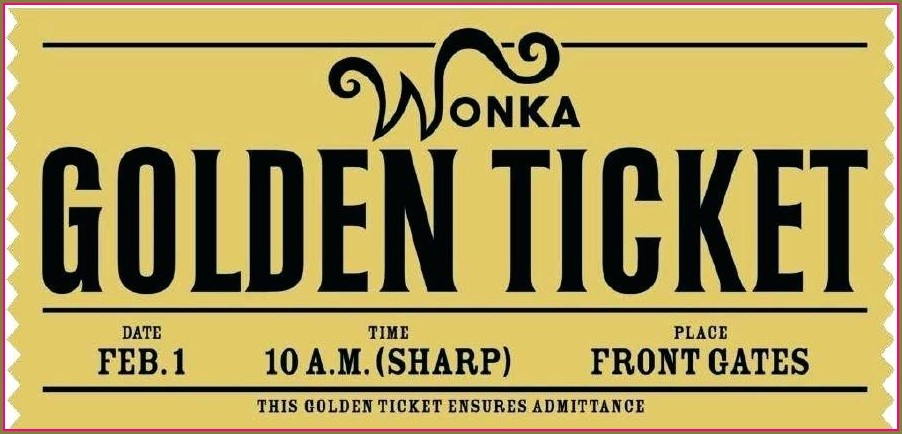 Free Golden Ticket Template Editable