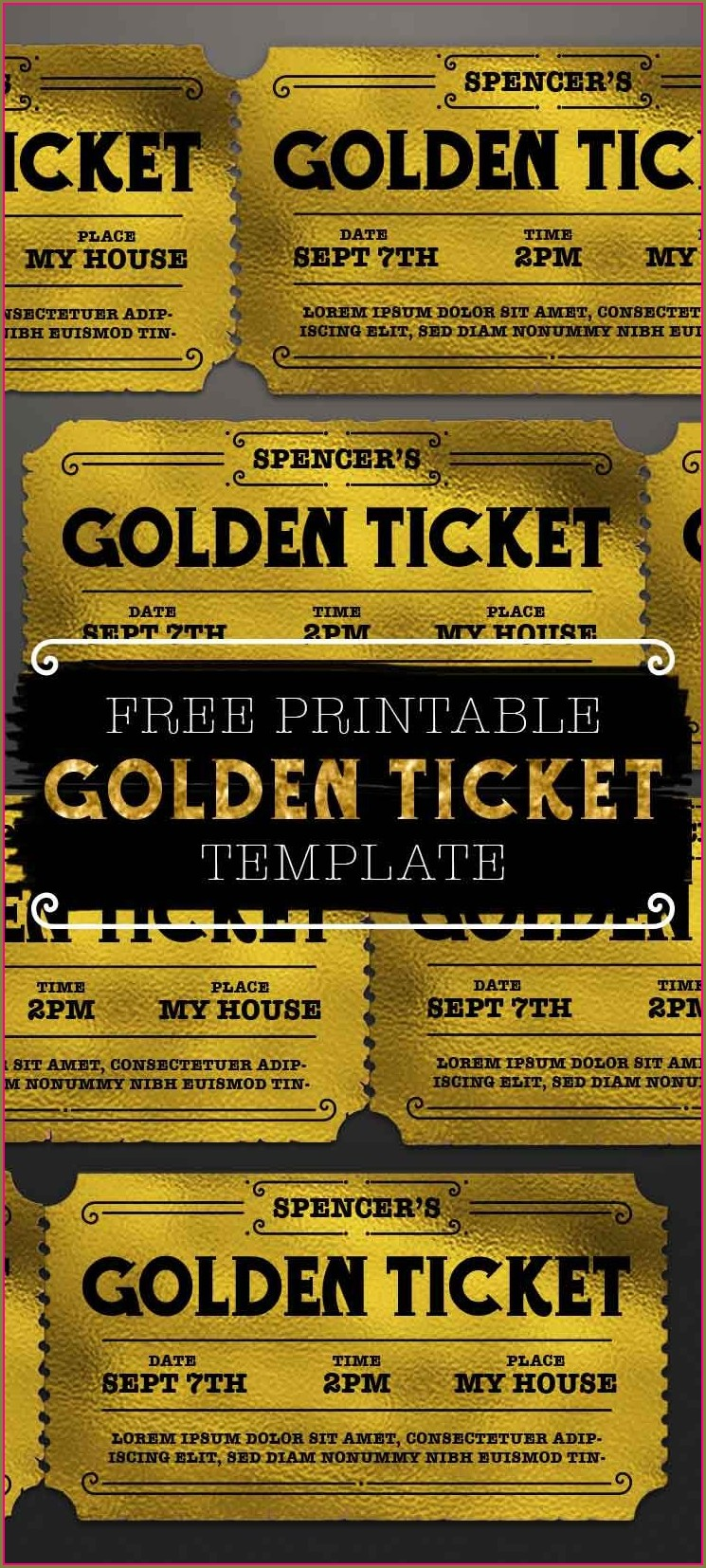 Free Golden Ticket Template