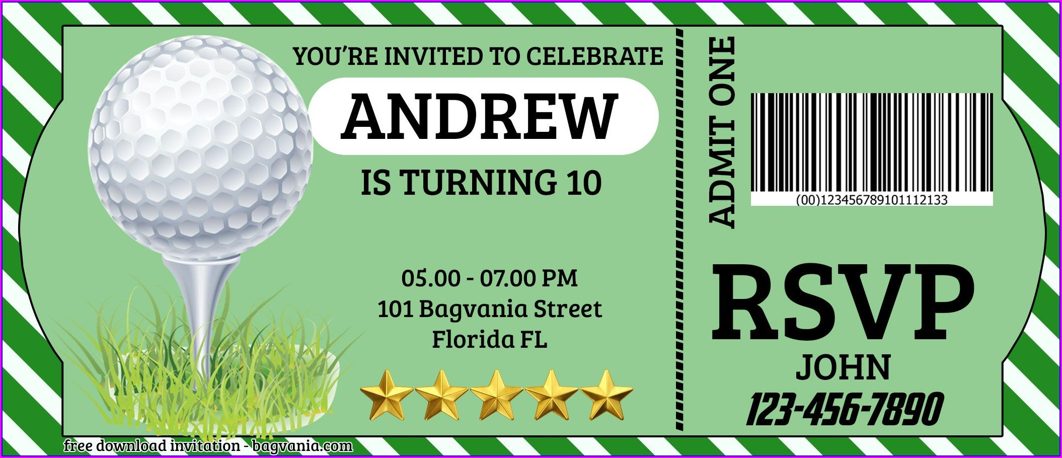 Free Golf Invitation Template