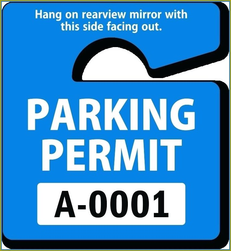 Free Hanging Parking Permit Template Word