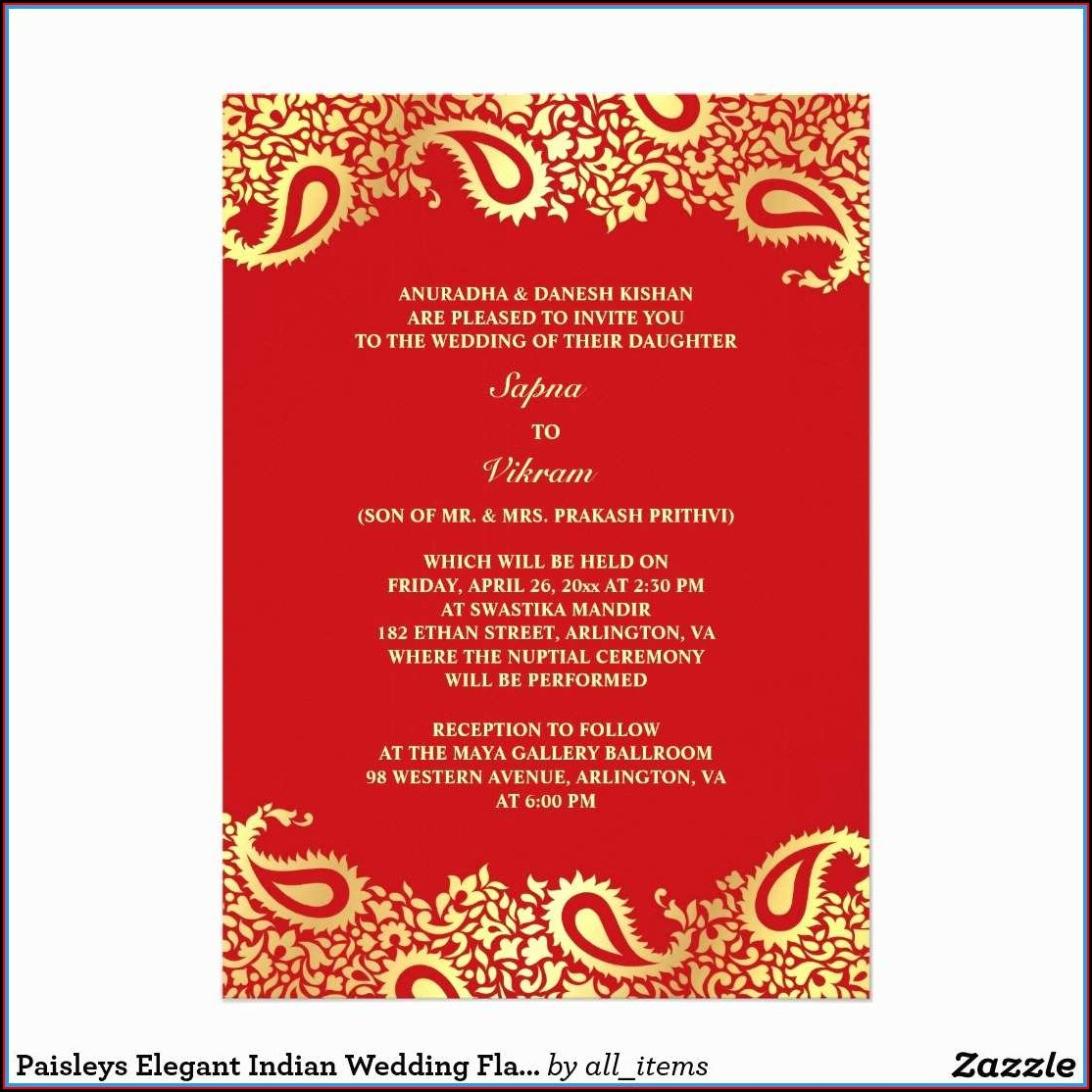 Free Hindu Wedding Invitation Templates
