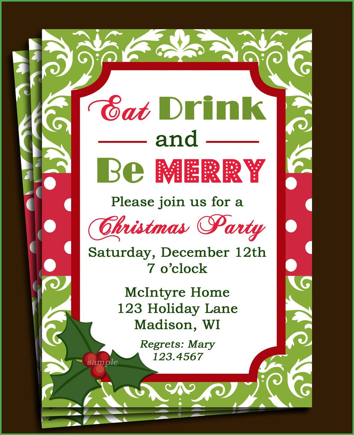 Free Holiday Luncheon Invitation Templates