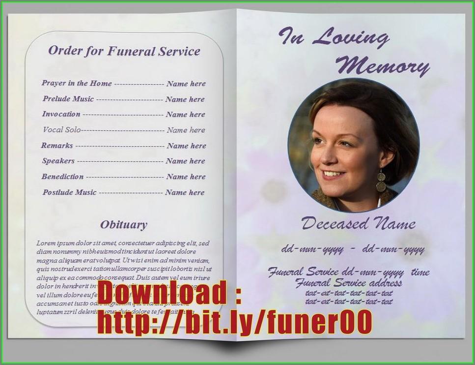 Free Memorial Program Template