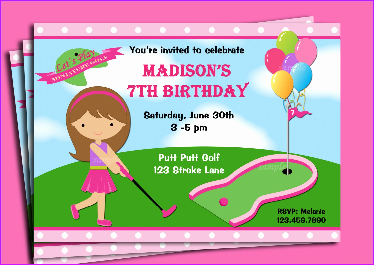 Free Mini Golf Invitation Template