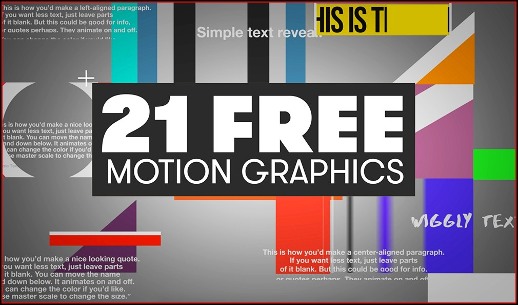 Free Motion Graphics Templates For Premiere Pro