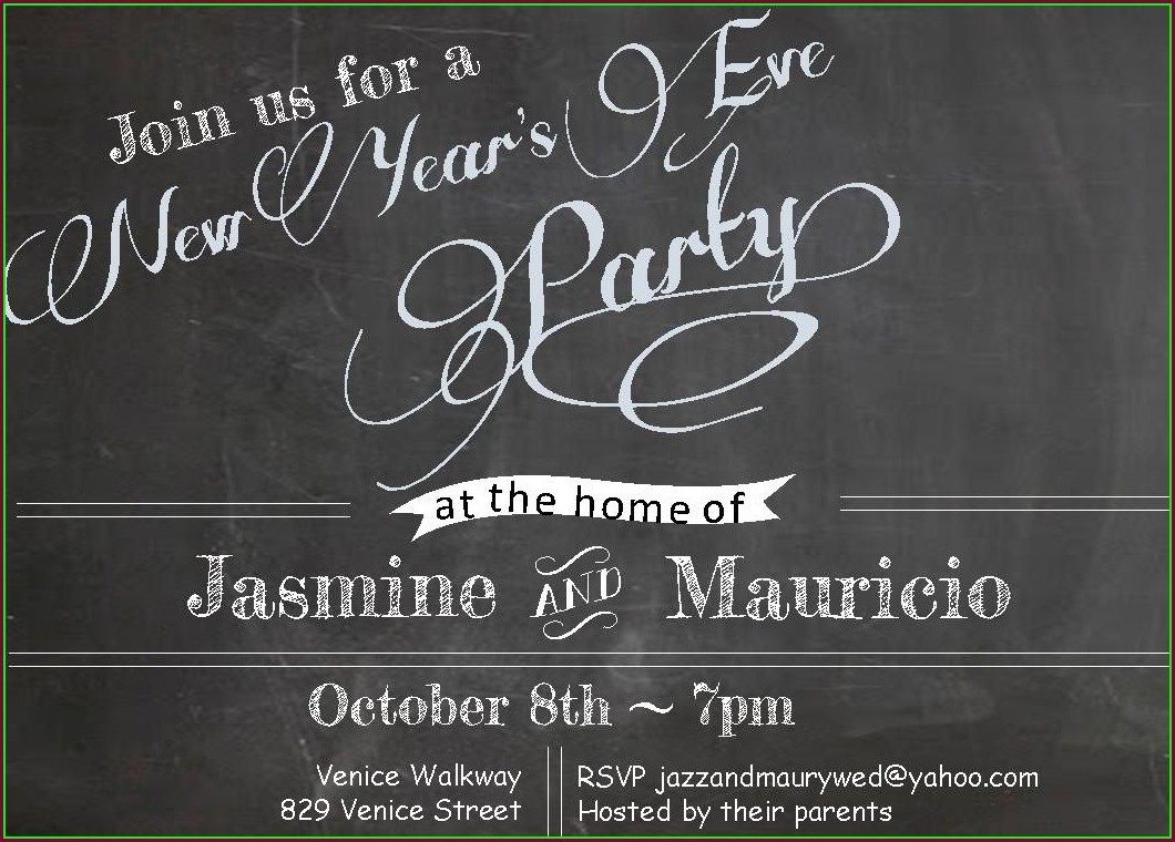 Free New Years Eve Invitation Templates