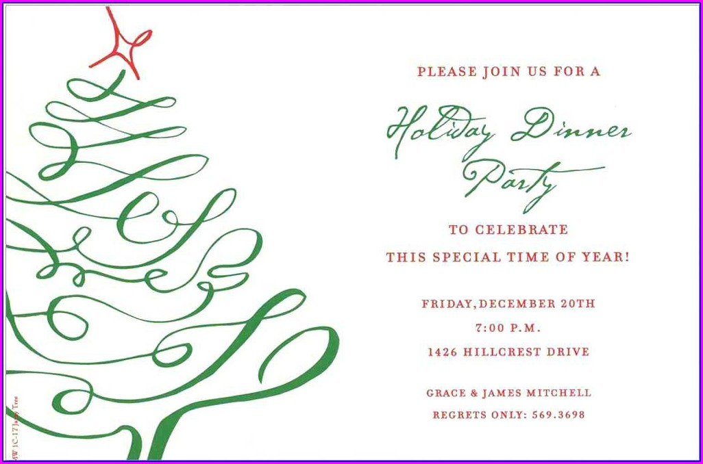 Free Office Holiday Party Invitation Templates Word
