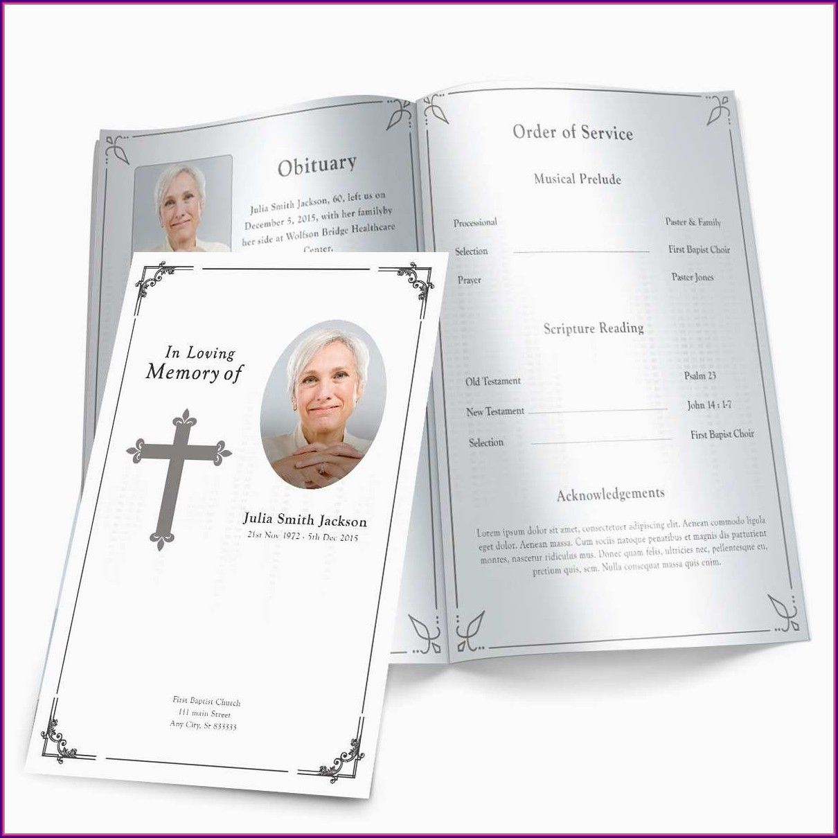 Free Printable Funeral Booklet Template Free