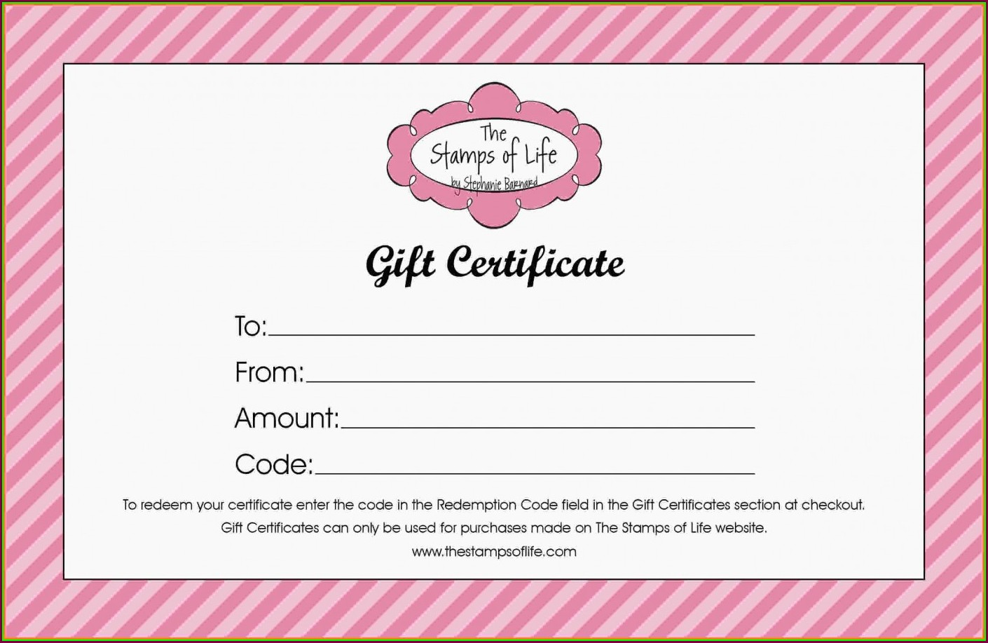 Free Printable Hair Salon Gift Certificate Template