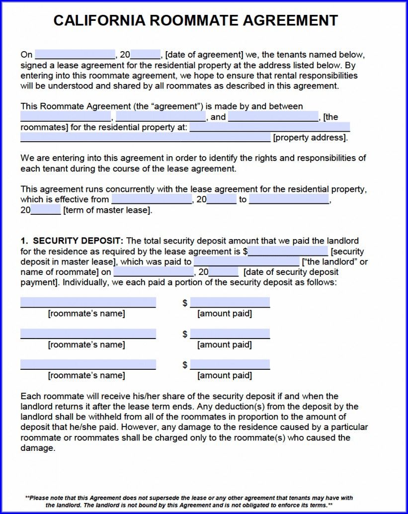 Free Printable Pdf Template Lease Agreement