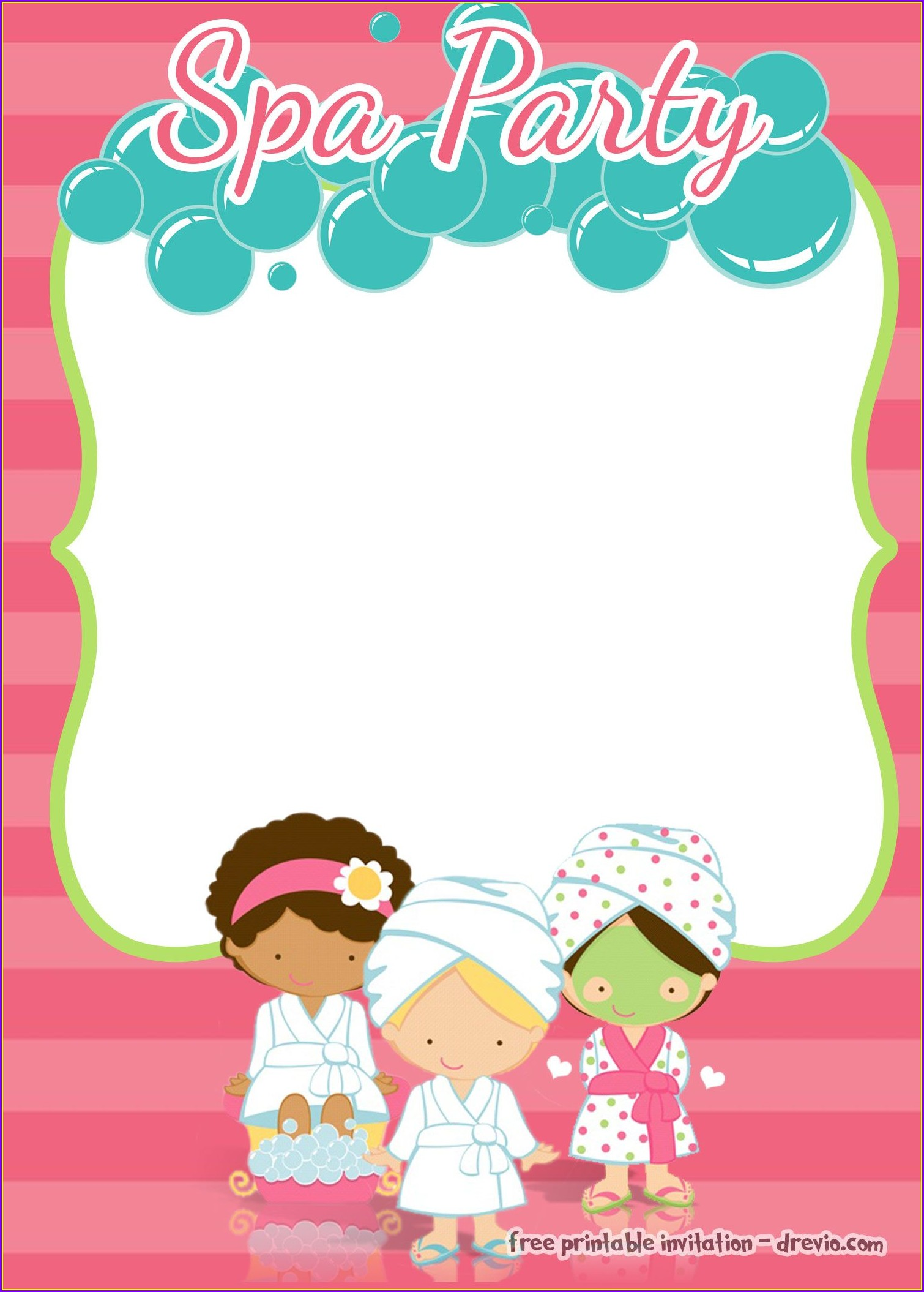 Free Printable Spa Party Invitations Templates Free