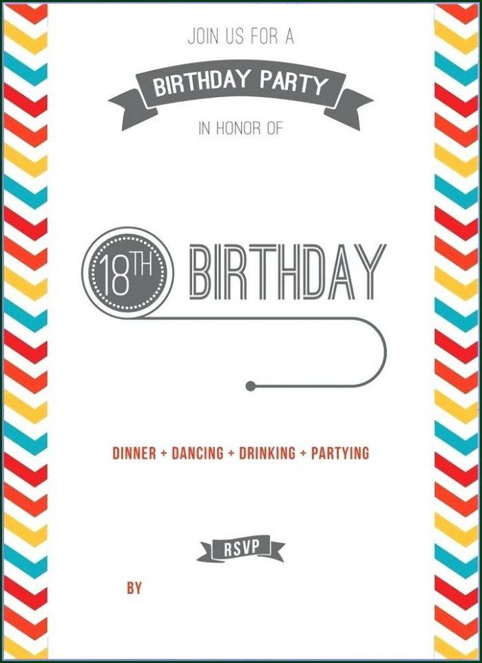Free Printable Teenage Birthday Invitations Templates Free