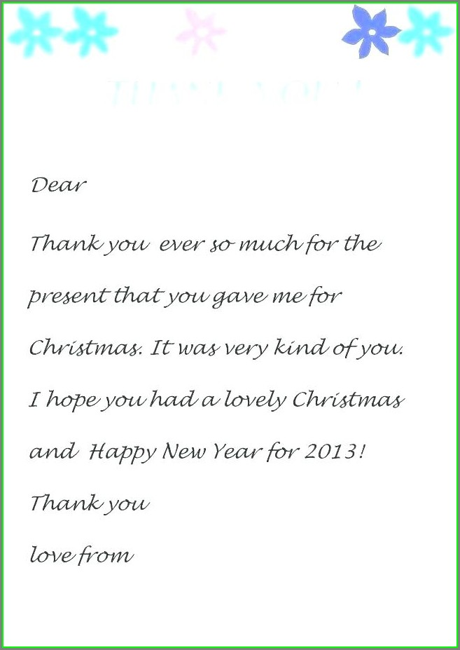 Free Printable Thank You Stationery Template