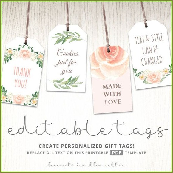 Free Printable Wedding Favor Tags Template
