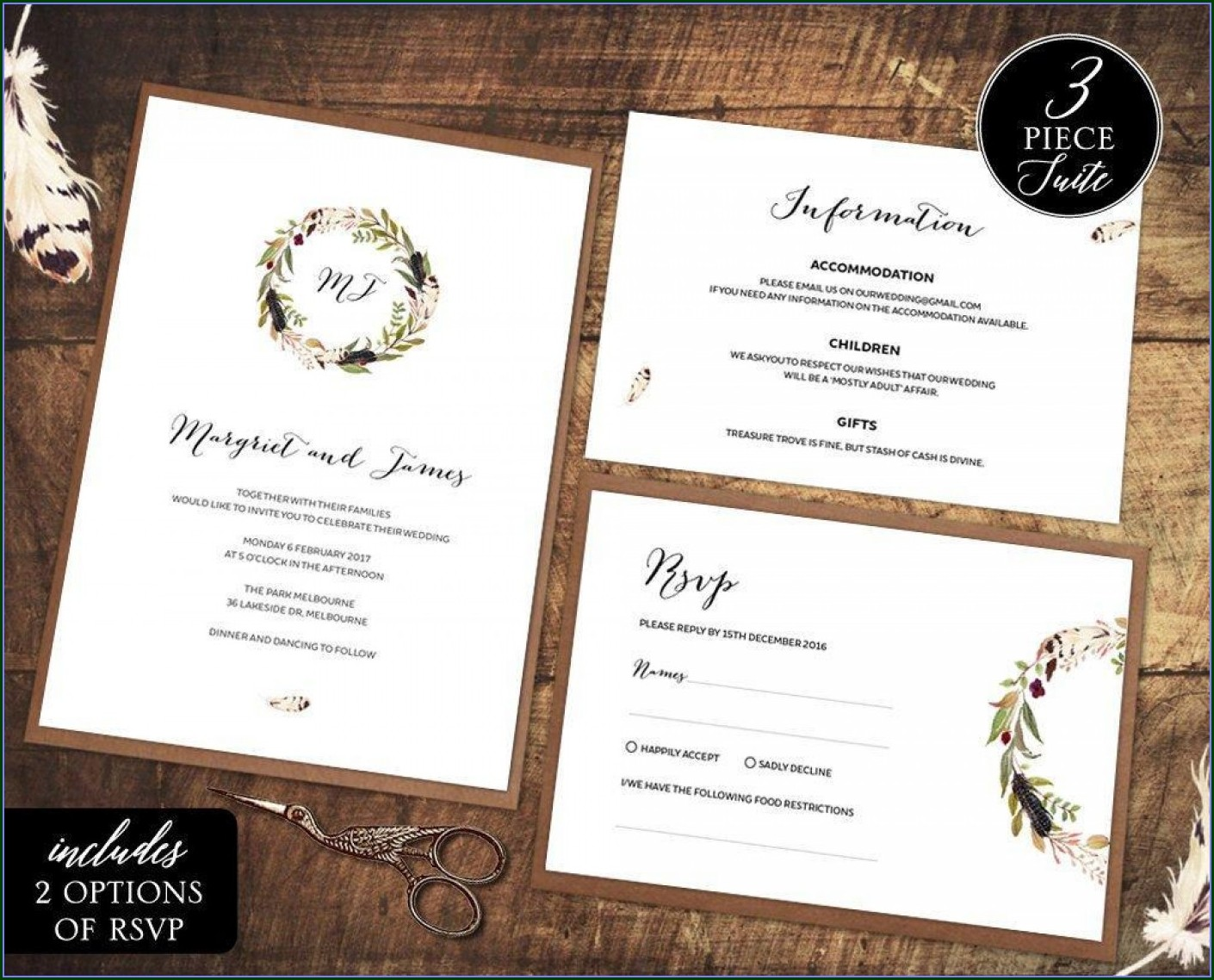 Free Printable Wedding Rsvp Card Templates