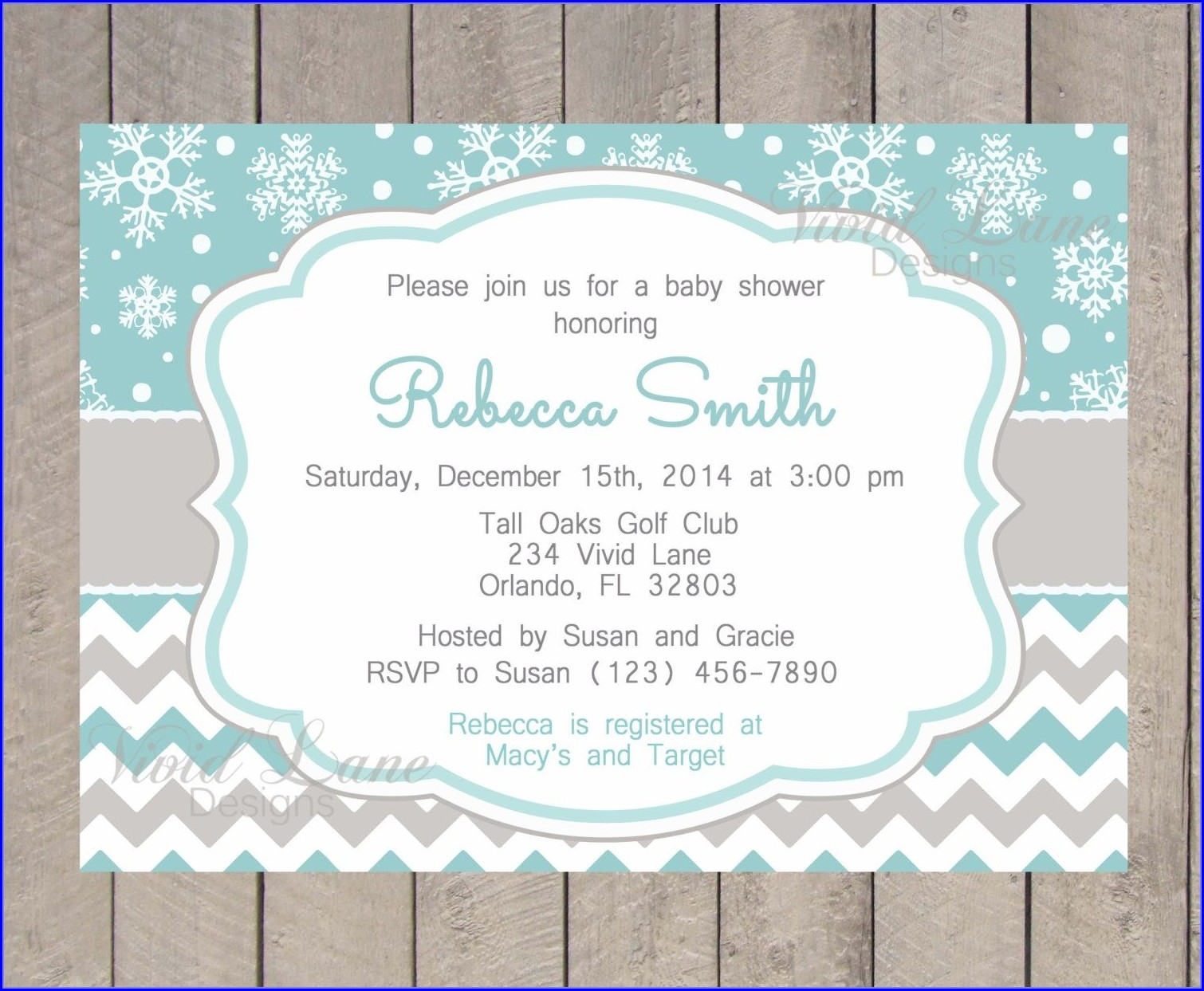 Free Printable Winter Wonderland Invitation Templates