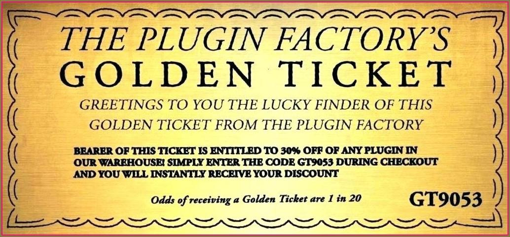 Free Printable Wonka Golden Ticket Template