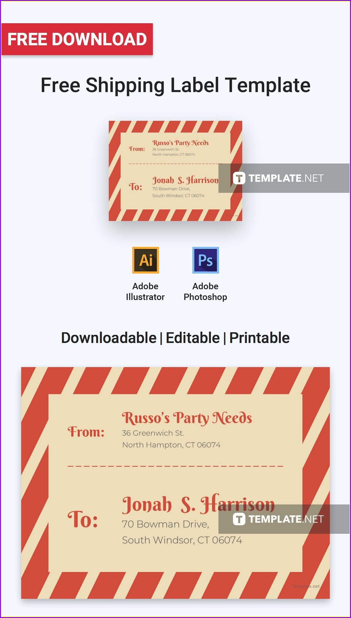 Free Shipping Label Templates