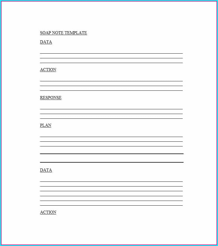 Free Soap Note Template Word