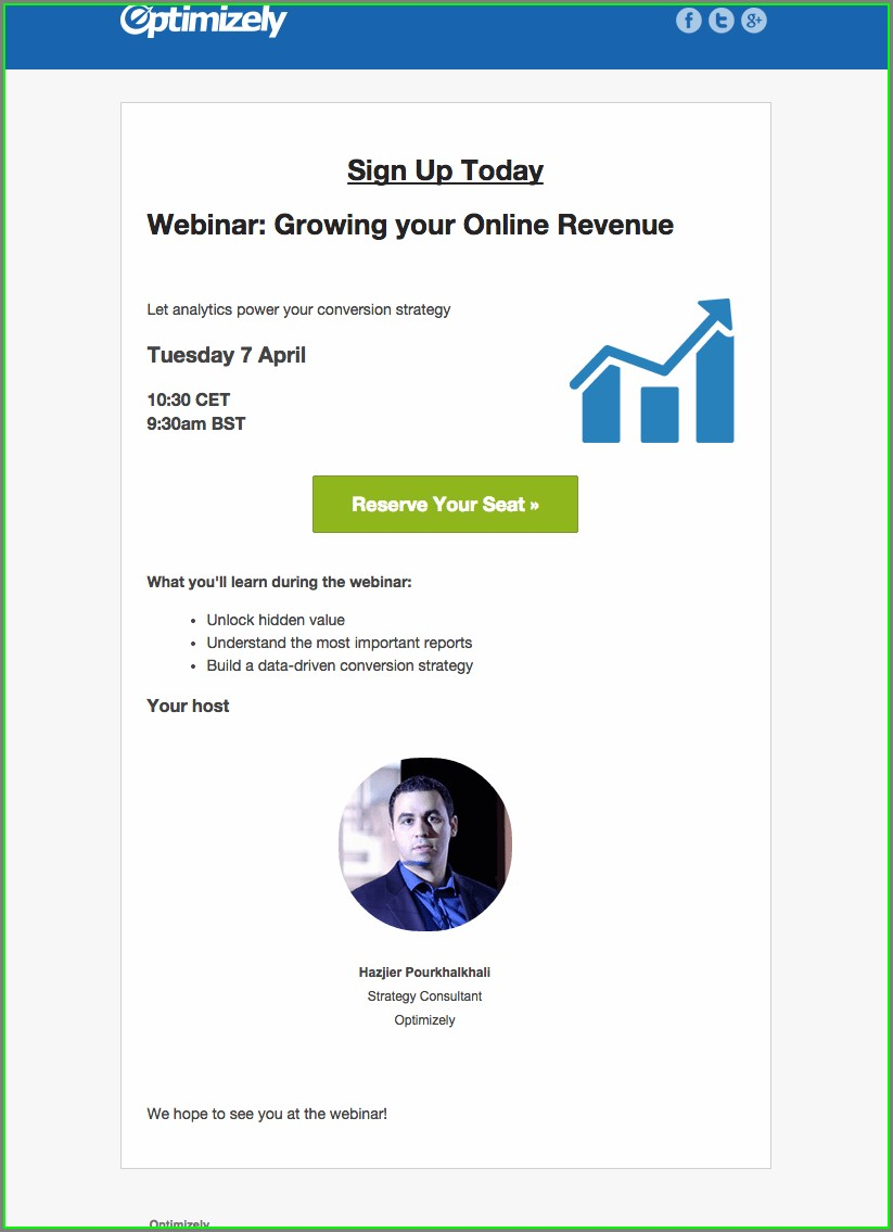 Free Webinar Invitation Template