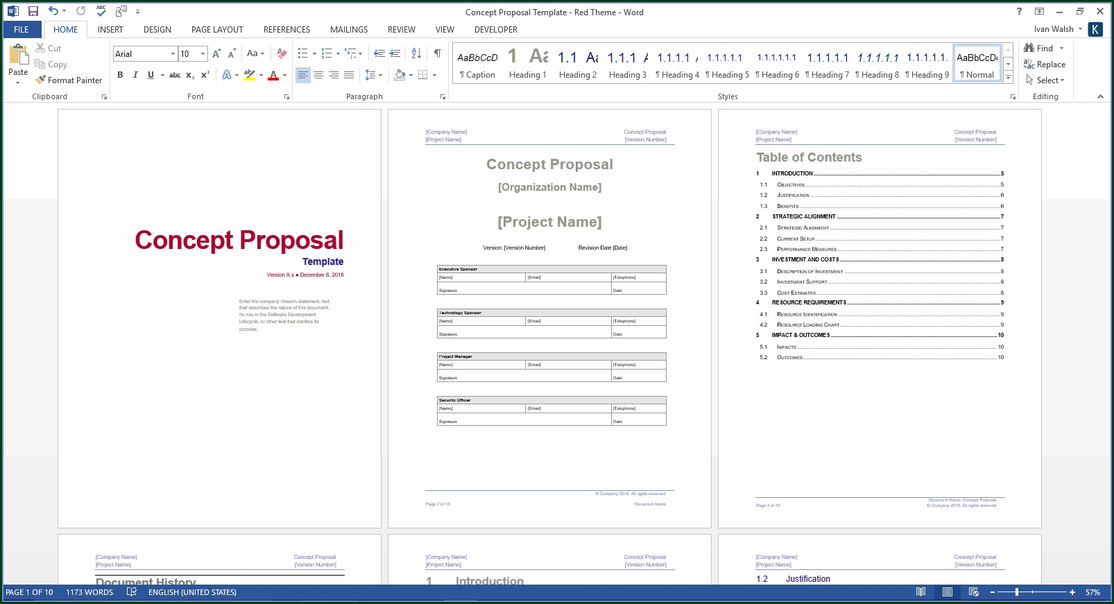 Free Website Proposal Template Word