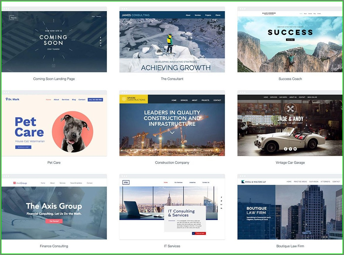Bluehost Website Templates Templates 2 Resume Examples