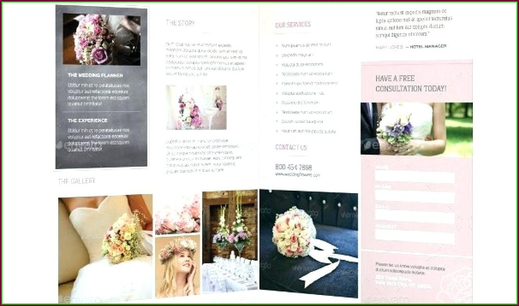 Free Wedding Planner Brochure Template Psd