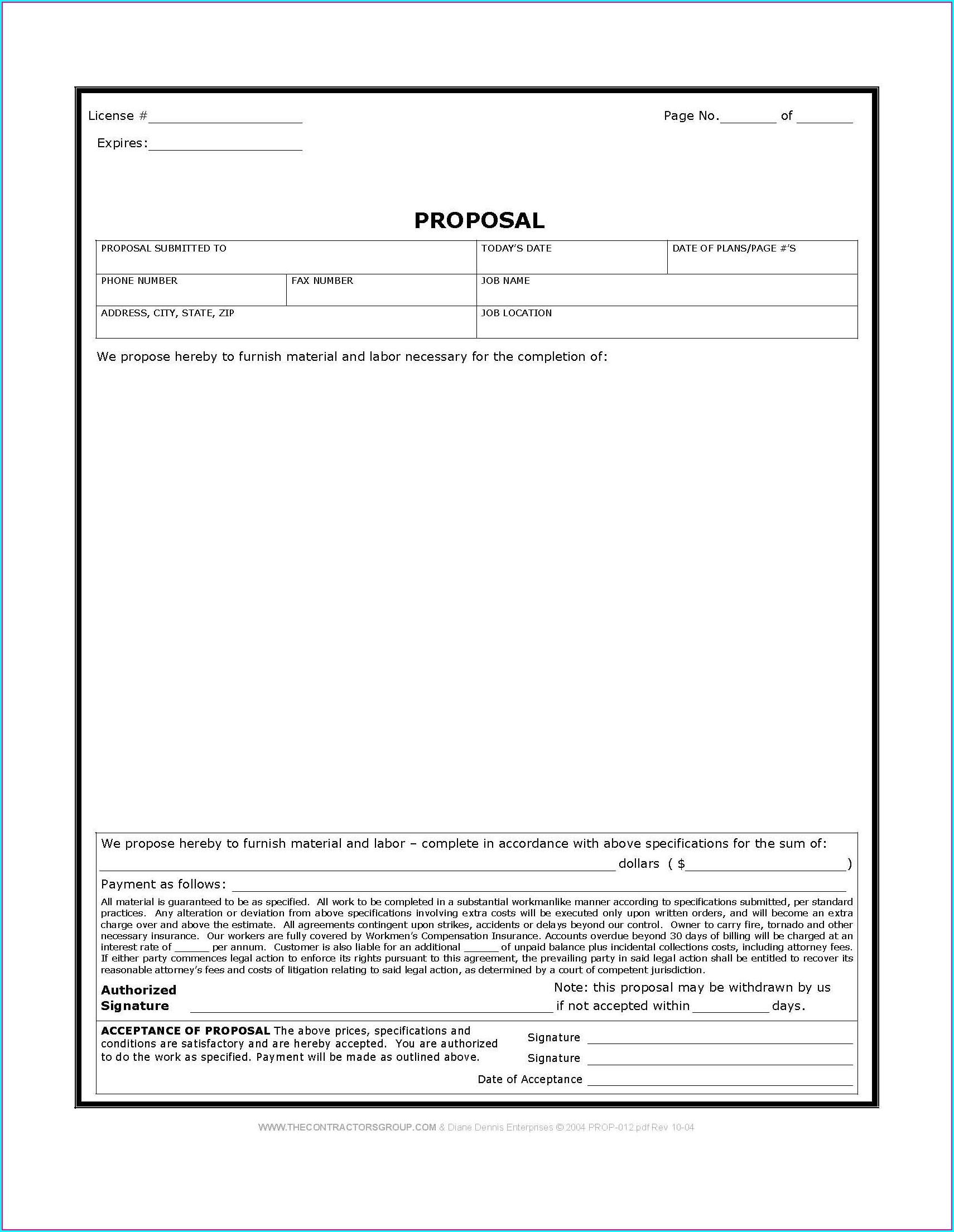 Free Work Proposal Template