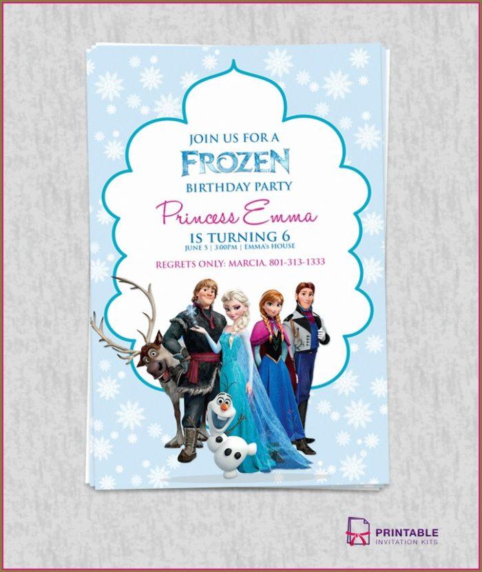 Frozen Birthday Party Invitation Template